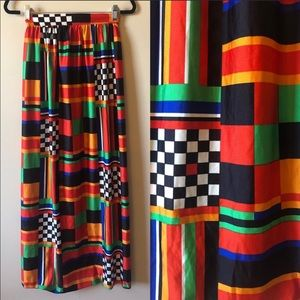 Vintage graffic 70s maxi skirt